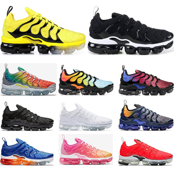 nike air vapormax Toptan Koşu ayakkabıları mens SAF PLATINUM Gökkuşağı Kırmızı Çin iş bule Pembe Deniz Volt beyaz siyah kadın spor sneaker trainer boyutu 36-45