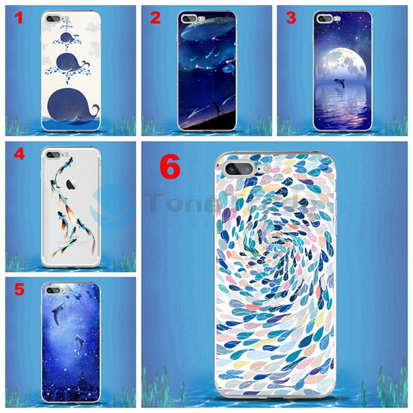 [TongTrade] Shoal Fish Men And Women Lovers Sweetheart Case For iPhone XS Max XR X 8/7 6/6s Plus Case Tempered Glass Soft Silicone TPU Cover
