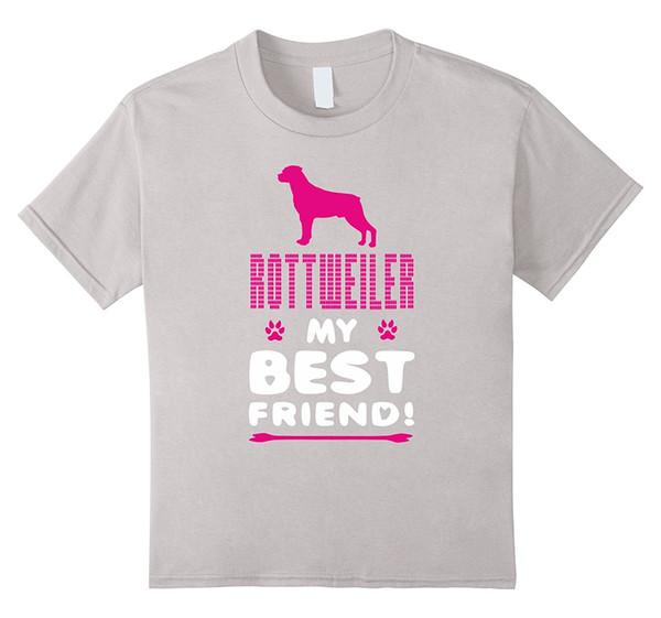 Rottweiler My Best Friend Animal Gift Dog Women T Shirt Harajuku Tee T Shirt Funny Casual Cotton Femme Black Hip Hop