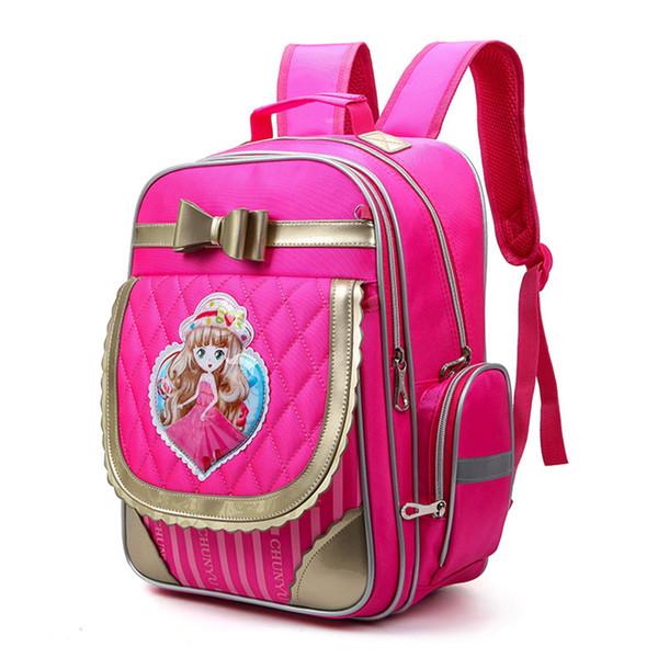 Primäre Bookbag für Jungen, Mädchen, Kinder Schulrucksack Orthopädische Princess Schulranzen Travel Rucksäcke Mochila Infantil