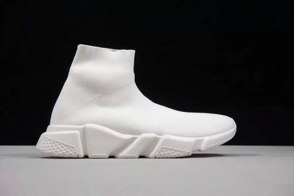 Latest Arrival S Red Yellow Speed Trainer Casual Shoe Man Woman Sock Boots With Box Stretch-Knit Casual Boots Race Runner Cheap Sneaker