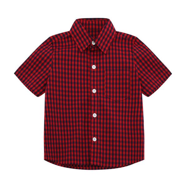 Boys Designer Shirts 2019 Summer New Luxury T Shirt Casual Plaid Shirt Fashion Trend Short Sleeve Childrens Kid Clothing Thin Jackets