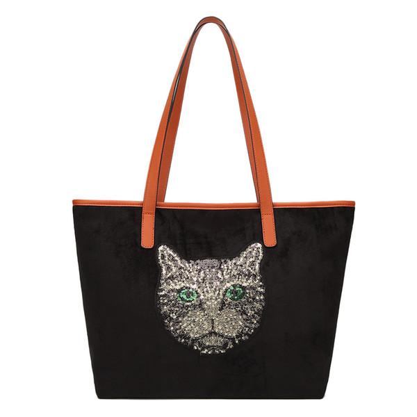 xiniu Customized Cute Cat Tiger Printing Women Handbag Tote Bags with Print Logo Casual Traveling Beach Bags Large Pocket #0423