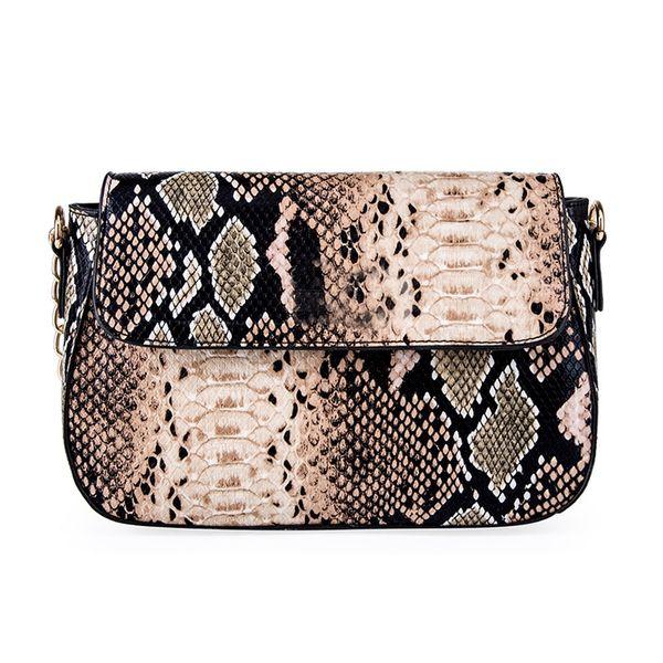 Snake pattern pu leather women bags ladies shoulder diagonal bag new fashion female handbag women pu small purse crossbody bag #168644