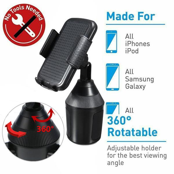 Autotelefonhalterung Handyhalterung Stent 360 Einstellbare Halterung Autotelefonhalterung One-Touch-Design für Iphone XR Samsung