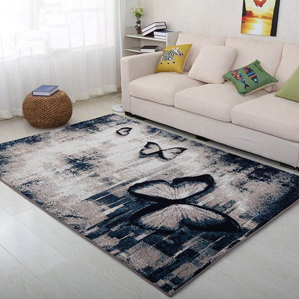 High quality Modern carpet 3D Butterfly Printed Anti-skid Carpets for Living room Dining Bedroom coffee table Luxury Floor Mat