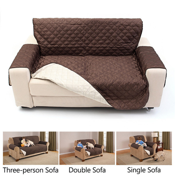 Waterproof Quilted Sofa Cover For Dog Pets Living Room Armchair Sofa Towel  Lounge Protector Couch Cover 1/2/3 Seater Slipcover Designer Chair Covers  ...