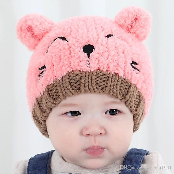 Puseky Winter Bear Ear Kids Baby Hats Lovely Infant Toddler Girl Boy Beanie Cap Warm Baby Hat Earflap