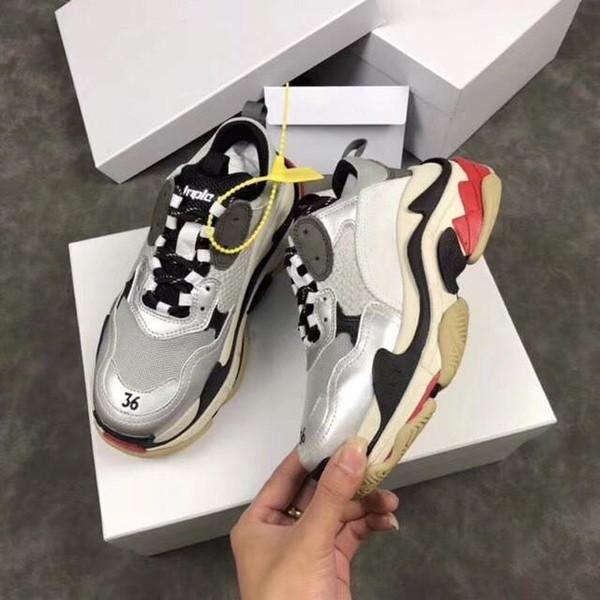 Paris üç kişi yürüyüş ayakkabısı moda baba ayakkabı BL üç kişi yürüyüş ayakkabısı 17FW erkek rahat ayakkabılar bahar sokak Gd çiftler yıldız gösterisi da