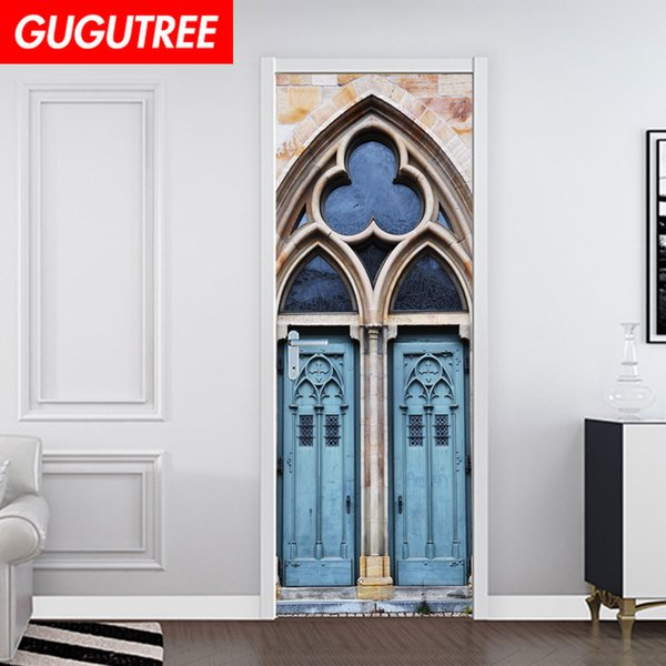 Decorate Home 3D church wall door sticker decoration Decals mural painting Removable Decor Wallpaper G-790