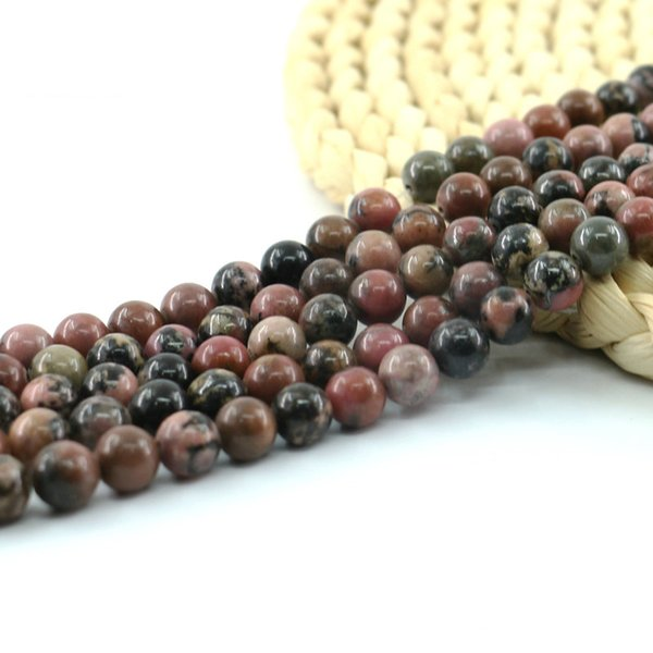 Black Line Rhodonite Beads Smooth Loose Bead 15 inch strand per set gemstone beads natural factory