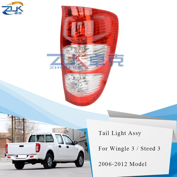 best selling ZUK Tail Light Tail Lamp Rear Taillight Taillamp For Great Wall Wingle 3 Steed 3 2006 2007 2008 2010 2011 2012 Wingle 5 Steed 5
