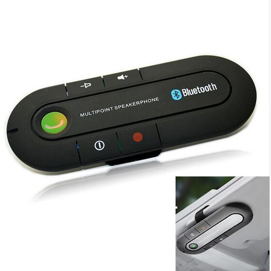 Bluetooth V4.1 Hands free Car Kit Speaker Music Player Car Kit Wireless Hands free speakers for Smartphone with retail box