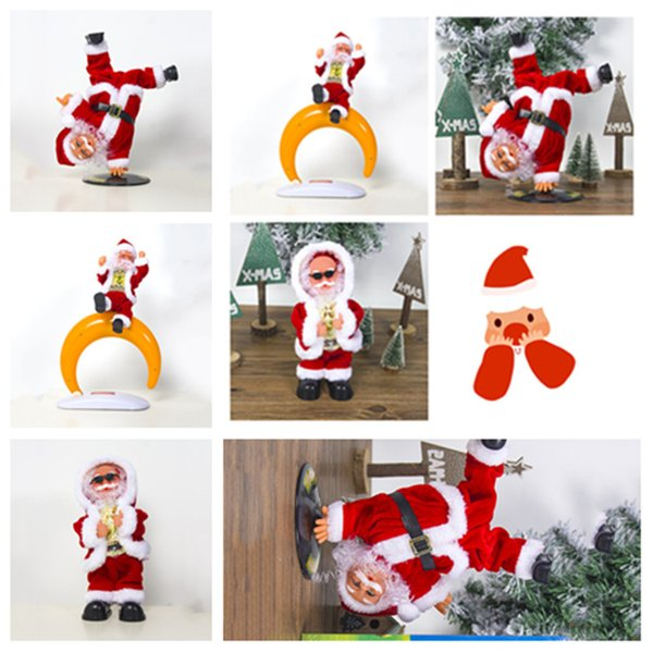 Santa Claus Doll Dancing Singing Music Automatic Toy Cute Plush Christmas Doll Toys Merry Christmas Decorations Party SupplieslT2I5541