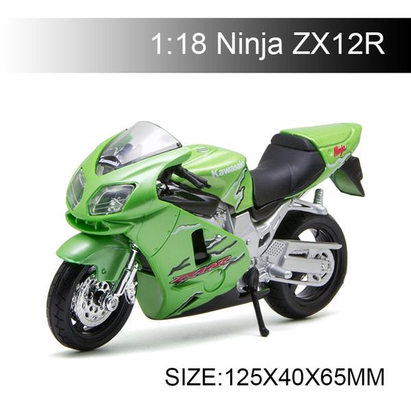 1:18 motorrad modelle ninja zx12r grün moto zx 12 r diecast kunststoff moto miniatur rennen spielzeug für geschenk collectio