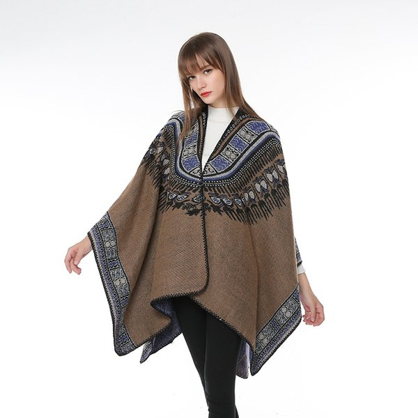 Толстые теплые осенние и зимние одежды китайские шарфы национальный стиль раскол Тибетский Цинхай Тибет Непал Туризм негабаритной шаль