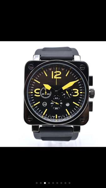 2019 Новый BELL ROS Бренд Six stitches серии Высокое качество Мужчины Роскошные модные кварцевые часы мужские наручные часы orologio uomo luxury6