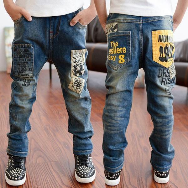 3-11T Autumn Baby Pants Casual Boys Jeans Bottom Children Denim Boys Trousers Casaco Roupas Infantis Menina Kids Jeans Clothes