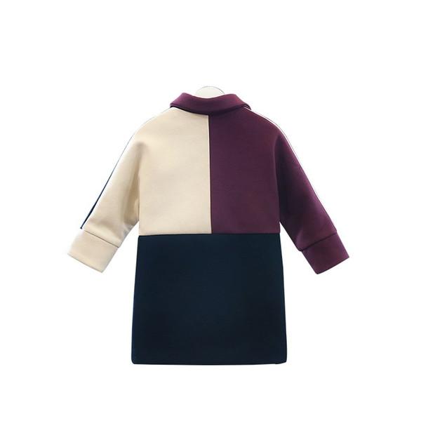 여자 가을 겨울 모피 코트 큰 아이 아기 긴 외투 여자의 패치 워크 의류 여자 모직 코트 우아한 두꺼운 따뜻한 재킷