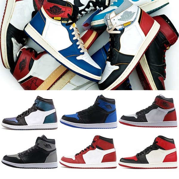 Basketball Shoes OG 1 Womens Mens Top 3 Pass And Torch Court purple Bred Toe Shadow New Love Chicago Union Sports Shoe Sneakers
