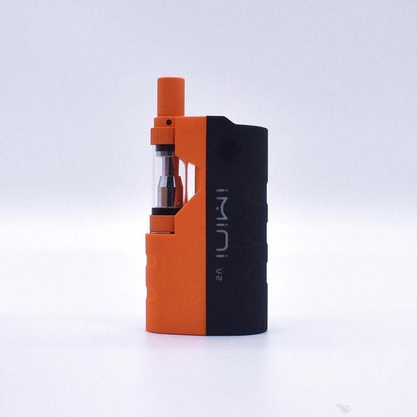 Original imini Vape Cartridges Vaporizer Pen 650mAh Preheat Voltage Control Battery Box MOD Upgraded Liberty V1 Thick Oil Atomizers