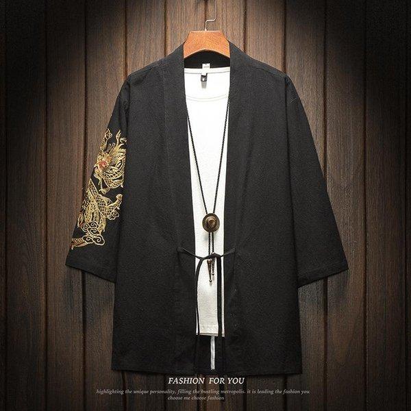 Chemise Kimono Noire