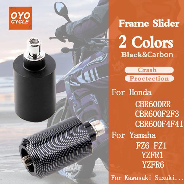 Black Delrin Crash Sliders For Suzuki GSXR 1000 2001-2004 01 02 03 04