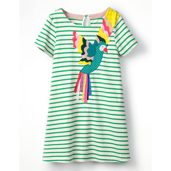 Unicon Girls Dresses Phoenix Cartton Girls Dresses kids designer clothes 100% Cotton Quality Striped Cartton Baby Girls Dresses