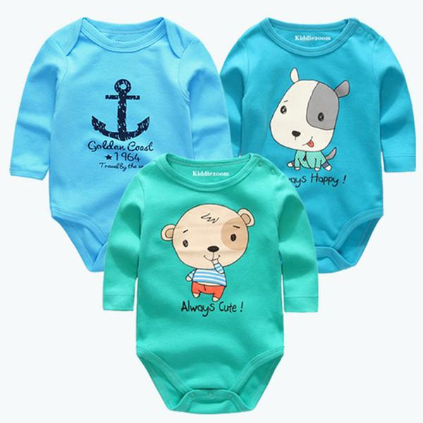 New Cutest 3pcs/lot Romper Short Sleeve Cotton Similar Boy Girl Clothes Baby Wear Jumpsuits Clothing Set Body Suits Q190520