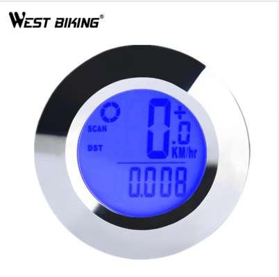 WEST BIKING Wireless Bike Computer Backlight Speedometer Air Temperature Waterproof IP65 Cycling Bicycle Computer Odometers