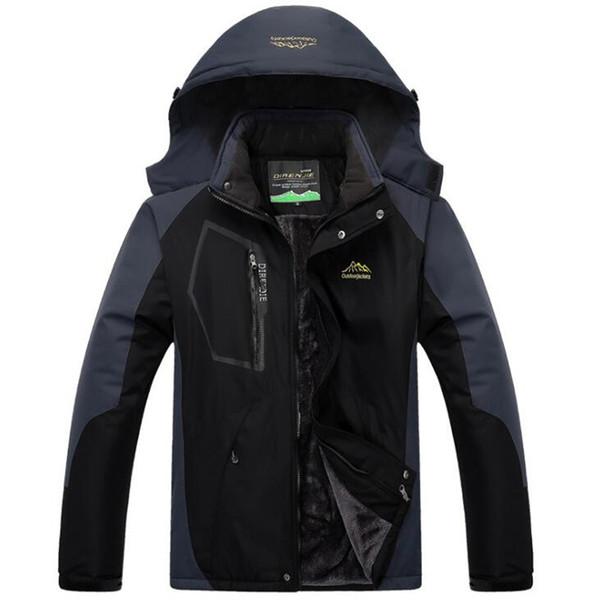 Winter Military Jackets Men Windbreaker Waterproof Jacket Thick Velvet Warm Parka Brand Clothing Plus Size 4xl 5xl Mens Coats