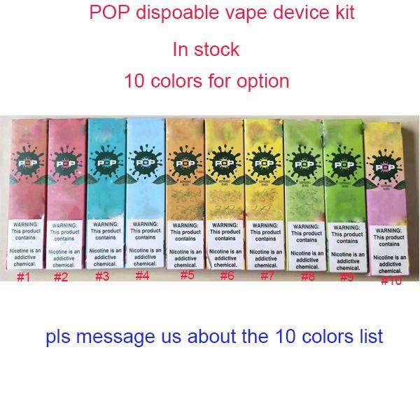 best selling POP Disposable Device Pods Starter Kits 280mAh Battery With 1.2ml Cartridge Vape Pen pre filled VS puff bar POSH Eon e cigarette