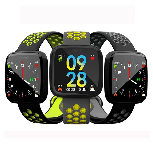 High quality F15 Smart Bracelet Watch Band fitness tracker Blood Pressure Heart Rate Monitor Thermometer Pedometer Wristband for Android IOS