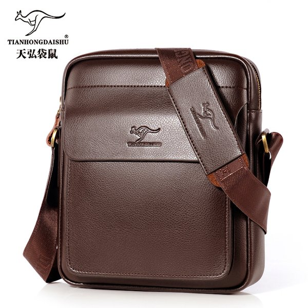 2018 New Men's Messenger Bag Men Small Leather Shoulder Bags Male Casual Mini Flap Back Pack Man Business Ipad Messenger Bags Y19051802