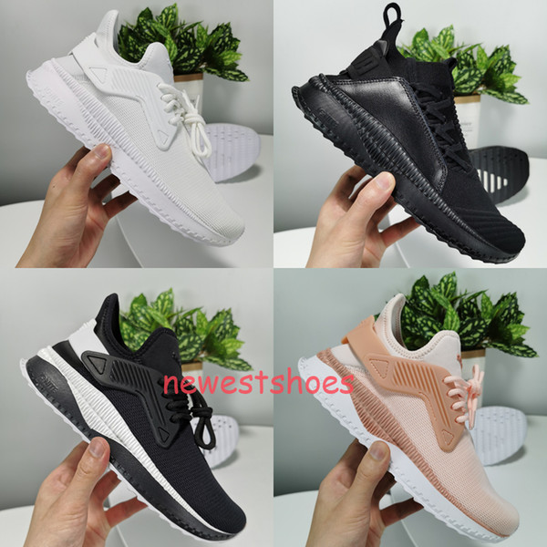 Men & Women TSUGI Jun Lace Up White Textile Sock Fit Running Trainers Shoes Athletic Fashion Sneakers Jogging Sports Shoes Size 36-44
