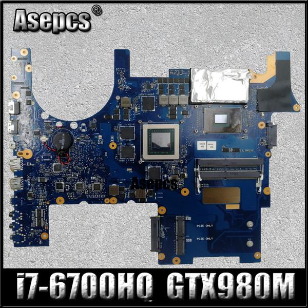 Asepcs ROG G752VY Laptop Motherboard für ASUS G752VY G752V G752 Testen Sie das Original-Mainboard I7-6700HQ GTX980M-V4G