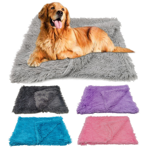 top popular Fleece Pet Blankets Fluffy Dog Cat Bed Mats Deep Sleeping Soft Summer Winter Thin Covers for Small Large Dogs Solid Cat Mattress 2020