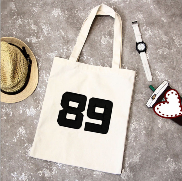 Designer- Zipper Eco Bag Can Be Printed LOGO Fashion Cotton Grocery Tote Shopping Bags Folding Shopping Cart Grab Reusable Bag Free Shipping