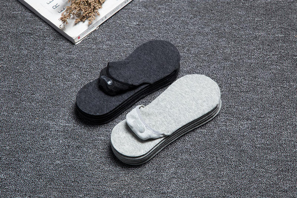 Мужские дизайнерские Короткие Носок летние носки лодка мужские низко, чтобы помочь короткие носки мужские носки Мужчины Женщины Твердые Цвета Серый