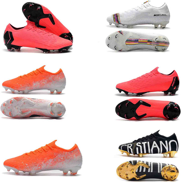 Hot Mercurial Superfly VI 360 Elite FG Fury VII CR7 Ronaldo Neymar NJR Mens Women Boys High Ankle Soccer Shoes Football Boots Cleats