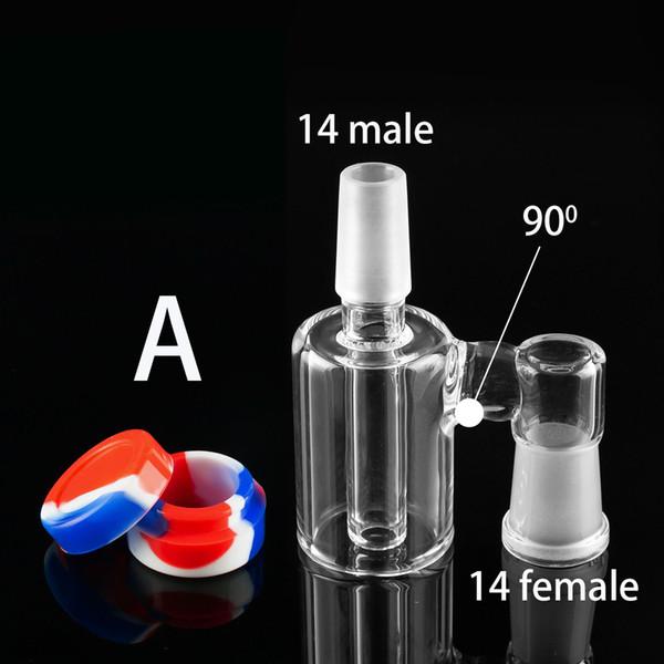 Melhor bacias de cinzas com coletor de cinzas de vidro 10mm 14mm 18mm Masculino Feminino borbulhador conjunta ashcatcher bong de água Recipiente de Silicone