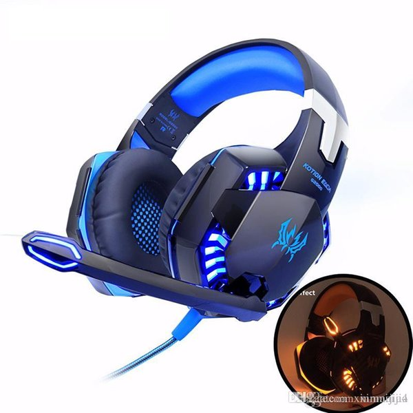 G2000 Bilgisayar Stereo Oyun Kulaklık Kulaklık En Iyi casque Derin Bas Oyun Kulaklık PC Gamer için Mic ile LED Işık