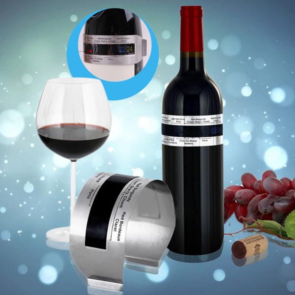Hoard Aço Inoxidável Pulseira De Vinho Termômetro 4-26 Graus Centígrados Sensor De Temperatura Do Vinho Tinto