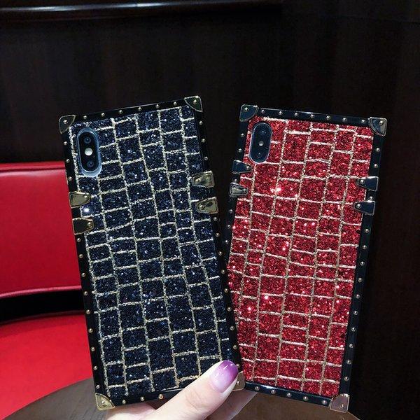 Sfilata di moda brillante antiurto caso Telefono Deluxe Edition modello di cornice per iPhone X XS Max XR 7 7plus 6 6S più