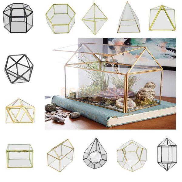 Magideal Vari Vetro Irregolare Geometrico Succulente Fioriera Vaso Terrario Contenitore Da Tavolo Pot Fai Da Te Home Office Wedding Decor Q190529