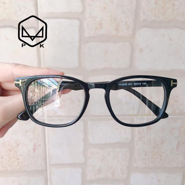 PK 2019 BRAND TF5505 hochwertige Rezept Acetat havanna Farbe Schildkröte Frau Mann Brillen Rezept Kurzsichtigkeit Linsen Brillenfassungen