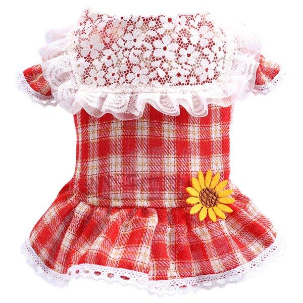 подсолнечно-красная клетчатая юбка