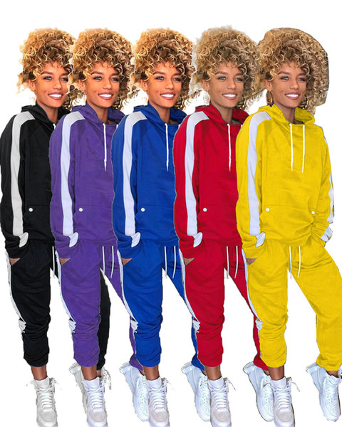 Brand Designer Women Hoodies 2 Piece Set Outfits Pullover Leggings Tracksuit shirt Pants jogging suit sportswear high neck sweatsuit