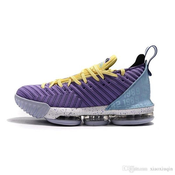 Cheap mens lebron 16 SB basketball shoes Heritage Purple Laker Horsemen Black White Oreo kids new lebrons sneakers tennis with box size 7 12