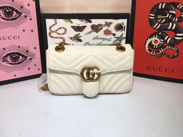2019 Alta qualidade67 446744 22..13..6 cm França Mochila SACO bolsas de grife de moda Feminina sacos de ombro bolsas de couro genuíno Livre Shiping